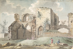 Remains of Eastby Abbey Yorkshire 1784
